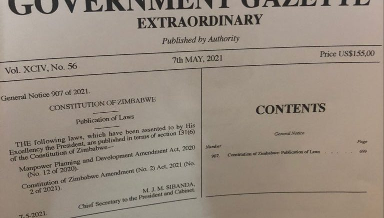 Mnangagwa signs Amendment Bill No.2 into law